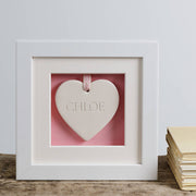 Baby's First Ceramic Heart Box Frame