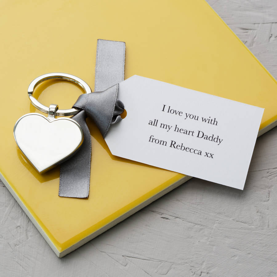 Father's Day Keyring With Personalised Tag