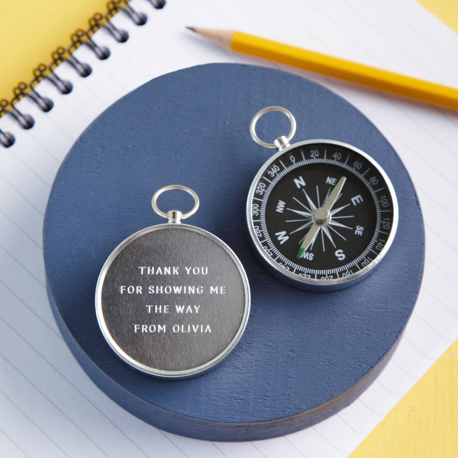 Personalised Engraved Thank You Teacher Compass