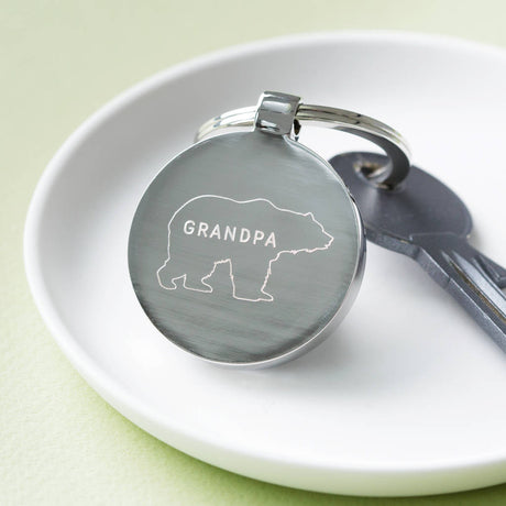 Personalised Grandpa Bear Father's Day Keyring