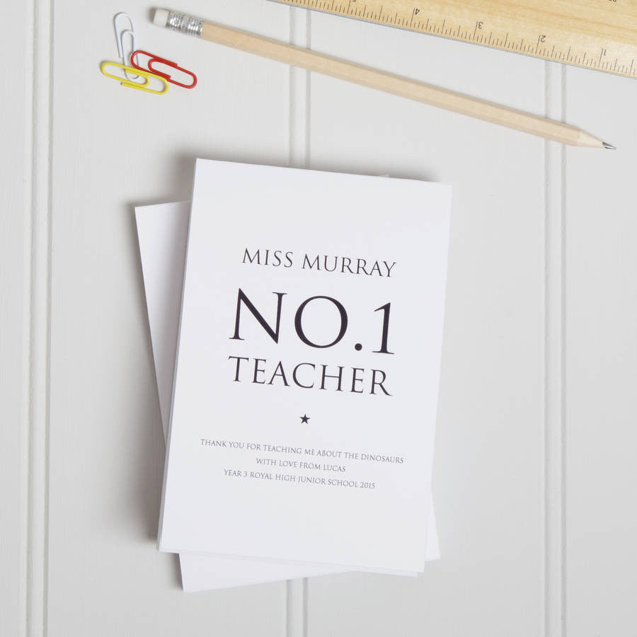 Personalised Number One Teacher Notepad
