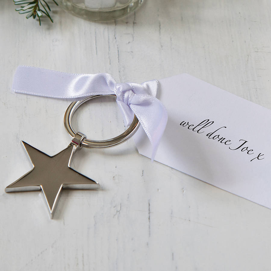 Star Keyring With Personalised Tag