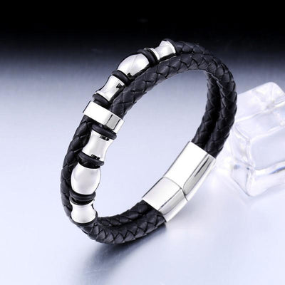 Simple Gene Leather Bracelet