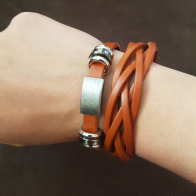 In-Trend Leather Wristband