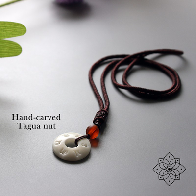 Ethnic Tagua Nut Pendant Necklace