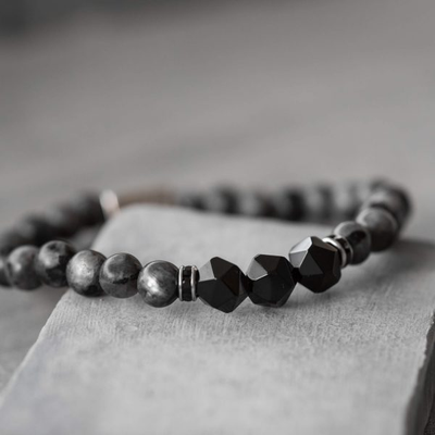Black and Grey Stones Bracelet