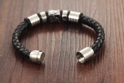 Masonic Leather Bracelet