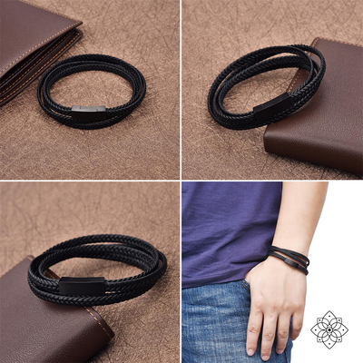The Triple Wrap Leather Bracelet