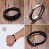 Double-wrapped Genuine Leather Bracelet