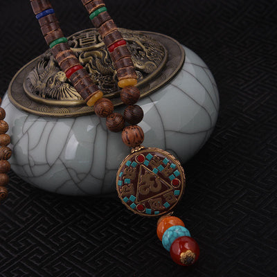 Vintage Nepal Necklace For Peace