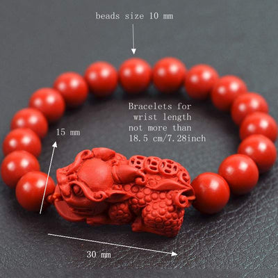 Wealth and Luck Red Cinnabar Bracelet