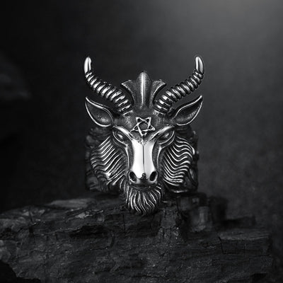 The devil goat ring