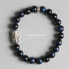 Blue HawkEyes Bracelet with Buddhist Totem