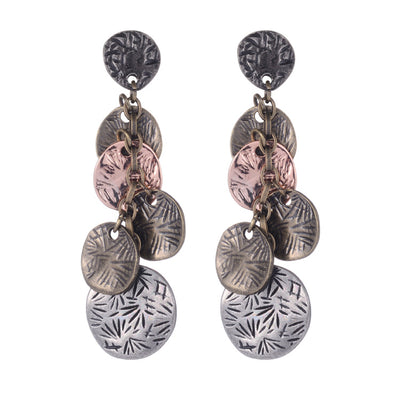 The Palm Leaves Vintage Earrings