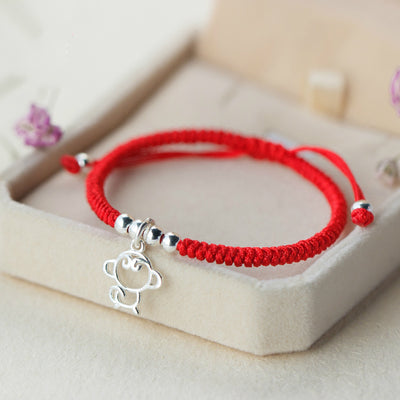 The Monkey Charm Red Rope