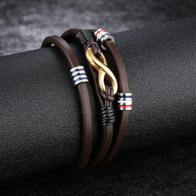 The Infinite Leather Bracelet