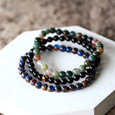 The Earthy Stones Set 3 Bracelets