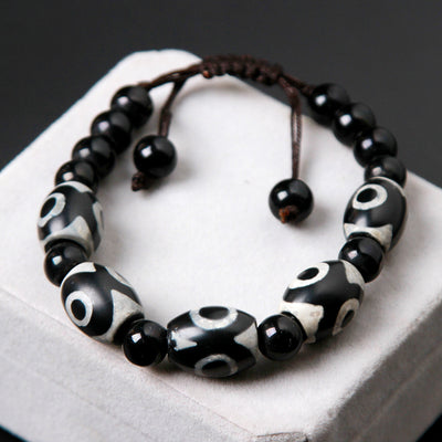 Dzi Beads Lace-up Bracelet