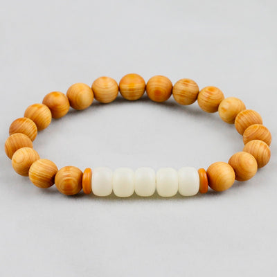Natural Wood Prayer Beads