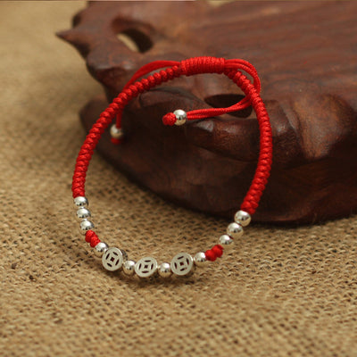 The Three Coins Charm Red Rope