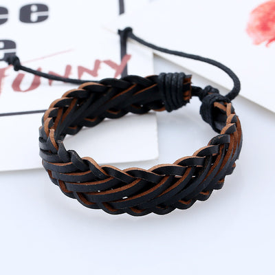 """The Good Time"" Leather Bracelet"