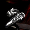Double Tiger Head Ring