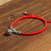 Red Rope with Silver Ornament