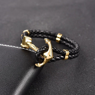 For the Bold Leather Bracelet