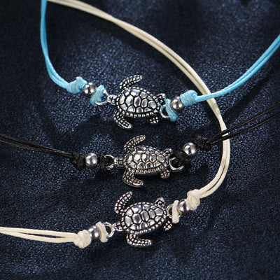 Set vintage bracelets with turtle charms