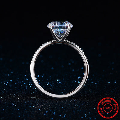 Heart Arrow Zircon Silver Ring