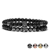 Steampunk Metal Smile Skull Bracelet Set