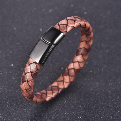 Rustic leather bracelet