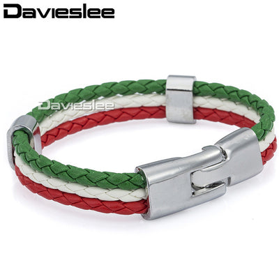 National Flag Leather Bracelet