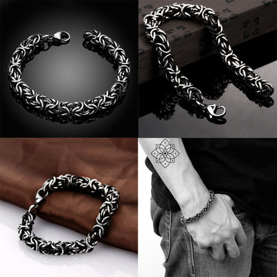 Silver Twisted Man Bracelet
