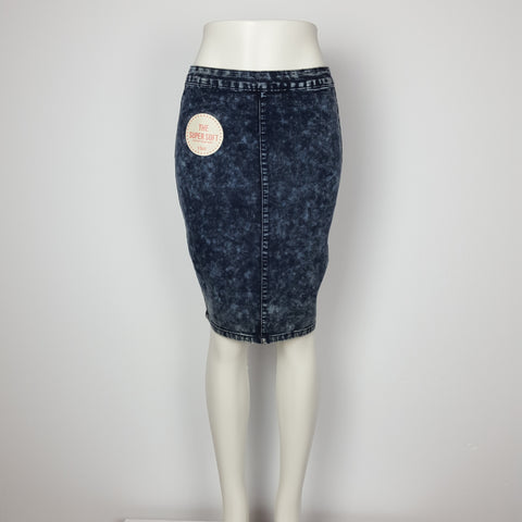 YMI Pencil Skirt Super Soft Denim fabric