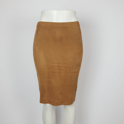 Faux Suade pencil Skirt