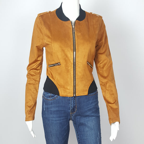 Women's Chestnut Blazer Suede Motto jacket