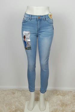 YMI Wannabettabutt High Rise Skinny Jeans, New light Blue wash