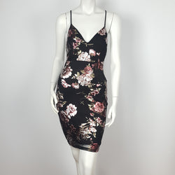 Black Sheath Dress Flower print
