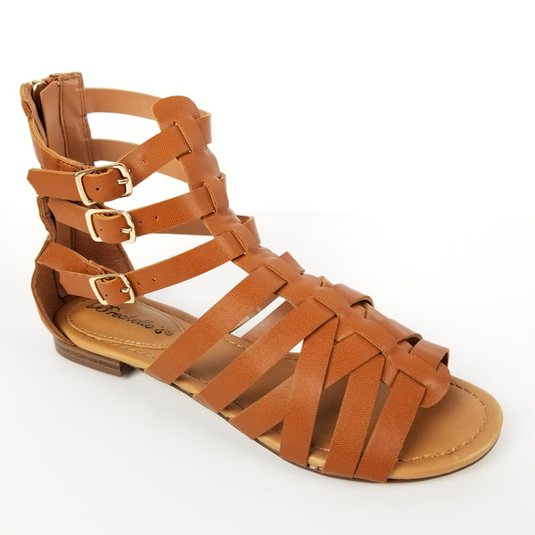 WOMEN'S GLADIATOR SANDAL BOHO FAUX LEATHER