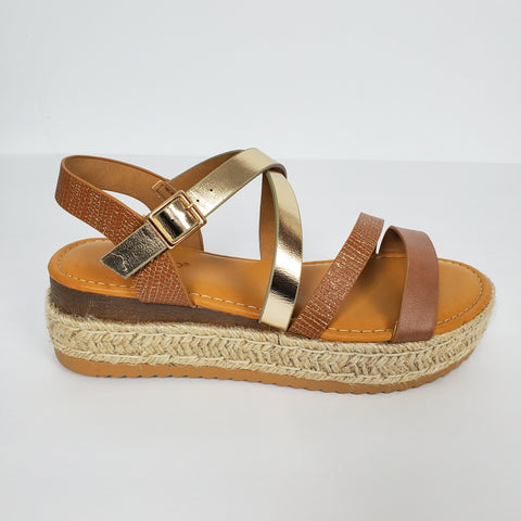 Casual Espadrille Platform Women Sandals with adjustable Straps