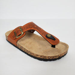 Women`s Casual Sandal with Buckle Strap color Tan