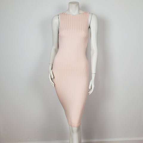 Sheat Dress Pink Sleeve less by Privy