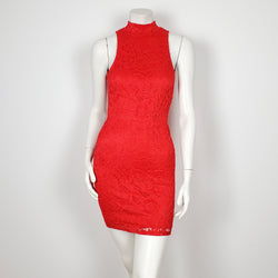 PRIVY by privately privileged Sleeveless Red mini Dress with Under Layer