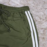 Women's  Shorts Green / Withe Stripes