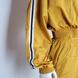 Women Windbraker Jacket Mustard Full Zip Up