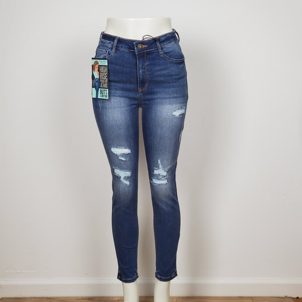 Wax Jean Women Distressed Skinny Jean's