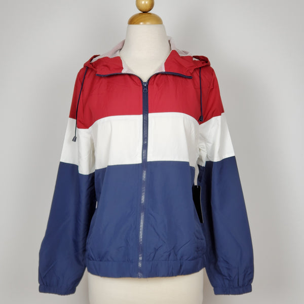 Women's Windbraker Jacket Red-Blue-White