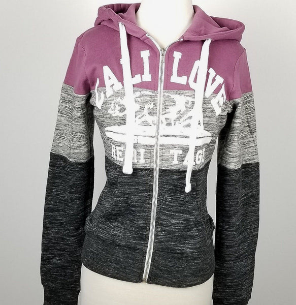 Women`s California Light Purple and Grey Zip up Hoodie