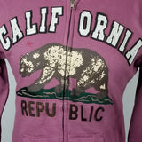 Women`s California Light Purple Zip up Hoodie